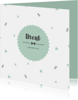 Geboortekaartjes - Geboortekaart confetti mint - BC