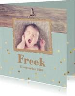 Geboortekaartjes - geboortekaart gouden confetti