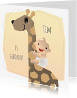 Geboortekaartjes - Geboortekaart - Jongen Giraffe