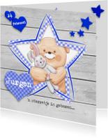 Geboortekaartjes - Geboortekaart jongen met sterren