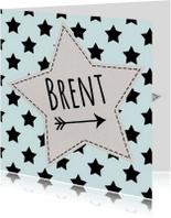 Geboortekaartjes - Geboortekaart karton sterren