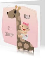 Geboortekaartjes - Geboortekaart - Meisje Giraffe