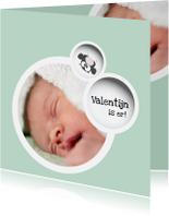 Geboortekaartjes - Geboortekaart met foto mogelijkheid