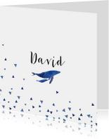 Geboortekaartjes - Geboortekaart whales