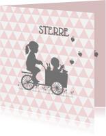 Geboortekaartjes - Geboortekaart zusje babyzus av