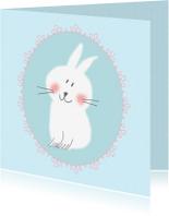 Felicitatiekaarten - Geboortekaarten - Fijn konijn