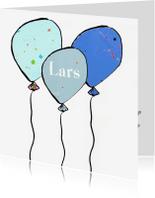 Geboortekaartjes - Geboortekaartje 3 ballonnen