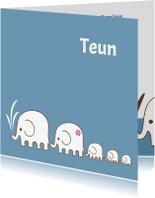Geboortekaartjes - Geboortekaartje-3olifantjes-PF
