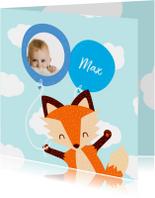 Geboortekaartjes - Geboortekaartje baby vos jongen
