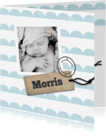 Geboortekaartjes - Geboortekaartje blauwe maantjes