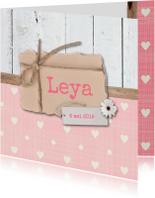 Geboortekaartjes - Geboortekaartje-bloem-Leya-SK
