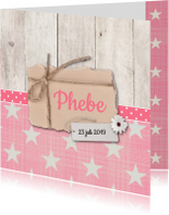 Geboortekaartjes - Geboortekaartje-bloem-Phebe-SK