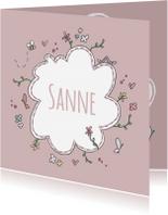 Geboortekaartjes - Geboortekaartje Bloemen LFZ