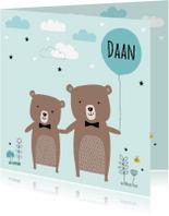 Geboortekaartjes - Geboortekaartje broertje beertjes
