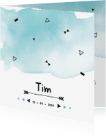 Geboortekaartjes - Geboortekaartje confetti Tim