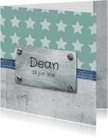 Geboortekaartjes - Geboortekaartje Dean