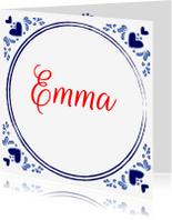 Geboortekaartjes - Geboortekaartje Delftsblauw
