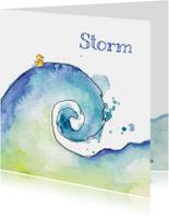 Geboortekaartjes - Geboortekaartje eendje zee maan