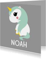 Geboortekaartjes - Geboortekaartje eenhoorn
