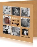 Geboortekaartjes - Geboortekaartje fotocollage meisje