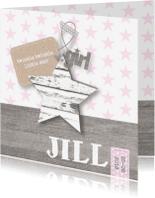 Geboortekaartjes - Geboortekaartje Girl Stars