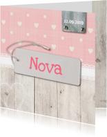 Geboortekaartjes - Geboortekaartje-hartjes-Nova-SK