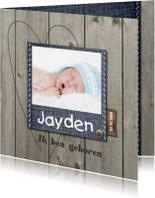 Geboortekaartjes - Geboortekaartje Jayden LOVZ