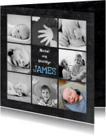 Geboortekaartjes - Geboortekaartje jongen hip