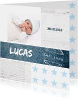 Geboortekaartjes - Geboortekaartje jongen Lucas