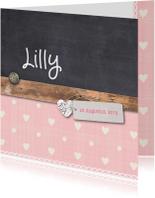 Geboortekaartjes - Geboortekaartje-krijt-Lilly-SK