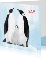 Geboortekaartjes - Geboortekaartje lieve pinguin