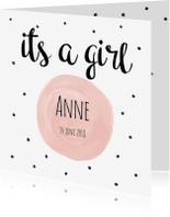 Geboortekaartjes - Geboortekaartje ME its a girl