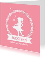 Geboortekaartjes - Geboortekaartje meisje met silhouet