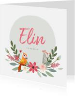 Geboortekaartjes - Geboortekaartje meisje uniek en schattig met illustratie