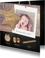 Geboortekaartjes - geboortekaartje met meetelementen