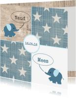 Geboortekaartjes - Geboortekaartje Naud en Mees