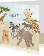 Geboortekaartjes - Geboortekaartje safari