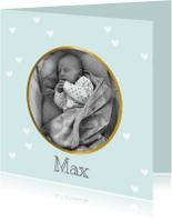 Geboortekaartjes - Geboortekaartje Soft shine mint