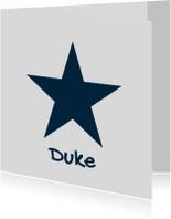 Geboortekaartjes - Geboortekaartje-ster-Duke-SK