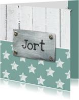 Geboortekaartjes - Geboortekaartje ster Jort - SK