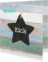Geboortekaartjes - Geboortekaartje ster Kick