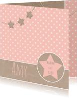 Geboortekaartjes - Geboortekaartje sterren kraft
