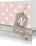 Geboortekaartjes - Geboortekaartje sterren Nina