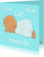 Felicitatiekaarten - Geboortekaartje Stoer PA