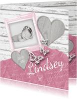 Geboortekaartjes - Geboortekaartje vintage foto