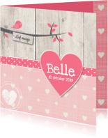 Geboortekaartjes - Geboortekaartje-vogel-Belle-SK