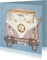 Geboortekaartjes - Geboortekaartje volkswagenbusje