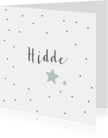 Geboortekaartjes - Geboortekaartje voor een zoon met sterren en stippen