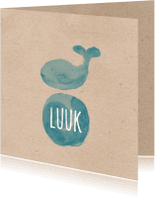 Geboortekaartjes - geboortekaartje walvis-isf