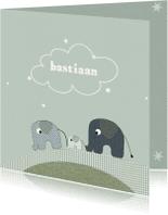 Geboortekaartjes - Geboortekaartjes Olifantjes 1